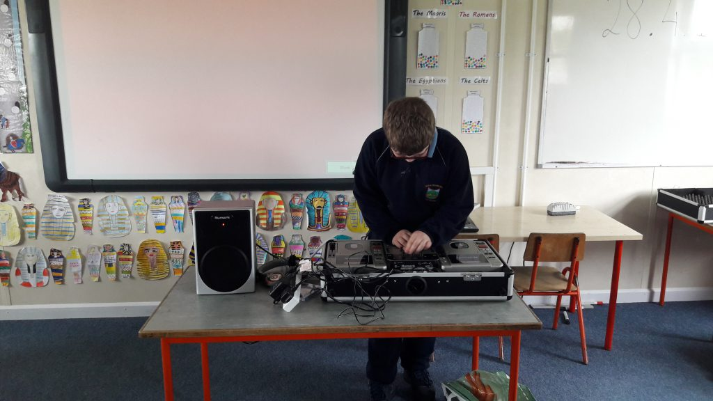 DJ Jack and his decks